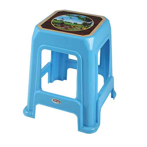 stool-decorated-bird-blue