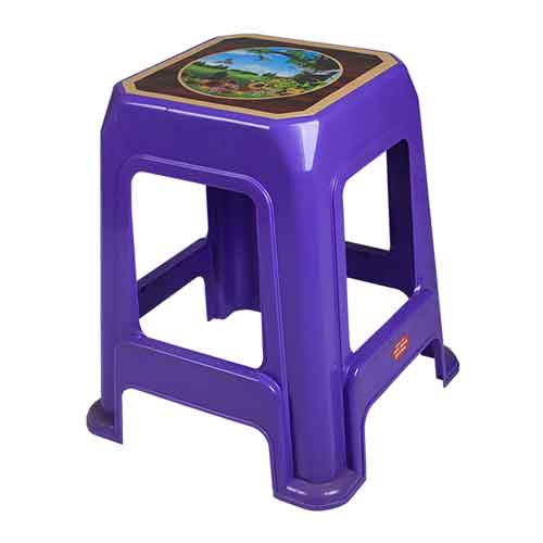 stool-decorated-bird-purple