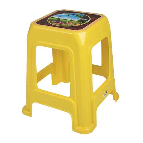stool-decorated-bird-yellow