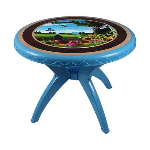 table-blue-bird-round-side