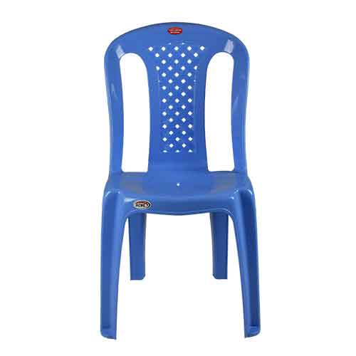 armless-chair-pleated-blue-front