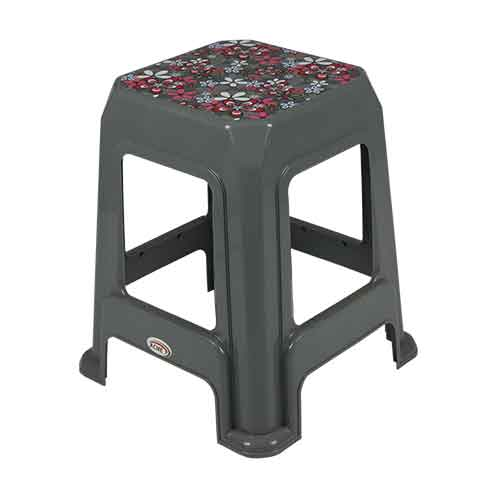 stool-deco-silver-petals-side