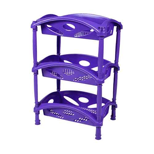 rec plain lily trolley 3rack -angle