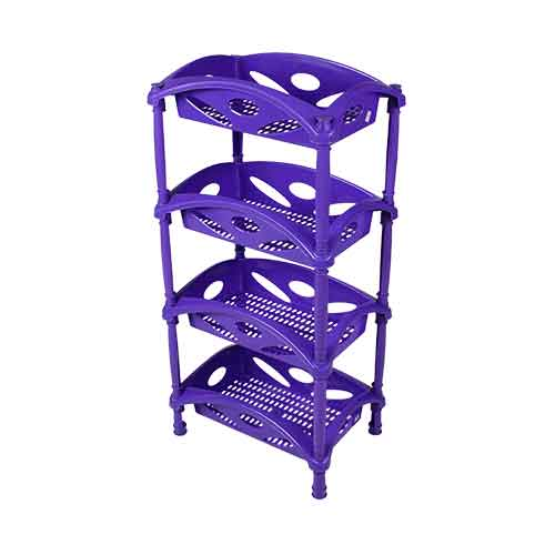 rec plain lily trolley 4rack -angle