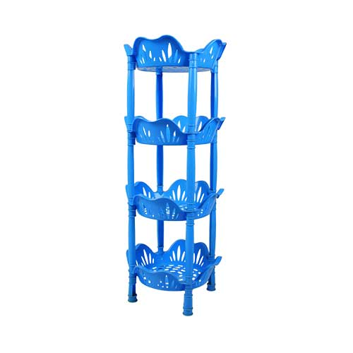 round-plain-lotus-trolley-4rack-front