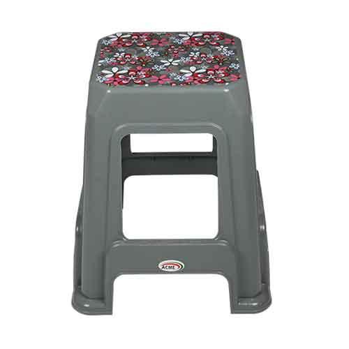 stool-deco-silver-petals-front